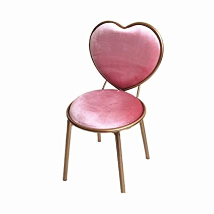 Merveilleux Iron Heart Shaped Chair, Pink Girl Room Decoration Chair Dining Chair Bar  Chair Home