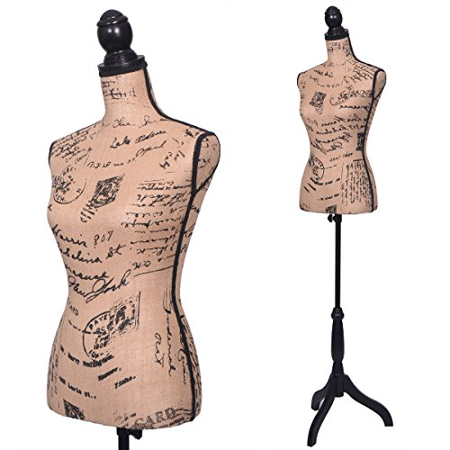 JAXPETY Female Mannequin Torso Designer Pattern Dress Form Display W/ Black Tripod - Top Designers Female