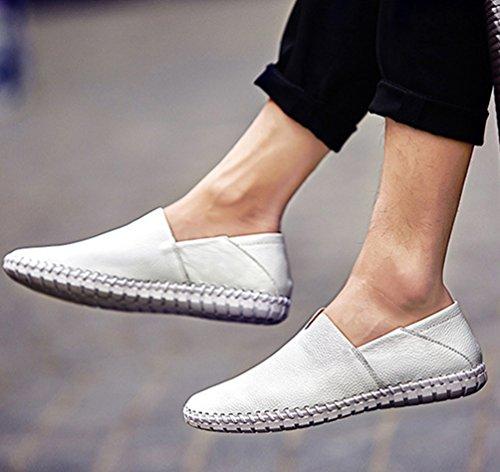 Zapatos Mocasines Moda Casual Zapatos Planos Dooxi Negocio Blanco Cómodos Loafer Hombre qxwZanPOX