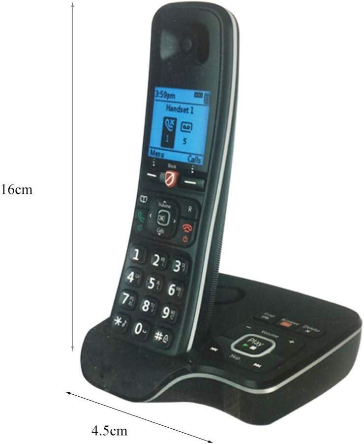 GUOOK TeléFono BotóN Vintage TeléFono InaláMbrico Digital MáQuina Individual Ampliable Oficina Acogida Inicio TeléFono InaláMbrico TeléFono Fijo Bienvenido: Amazon.es: Hogar