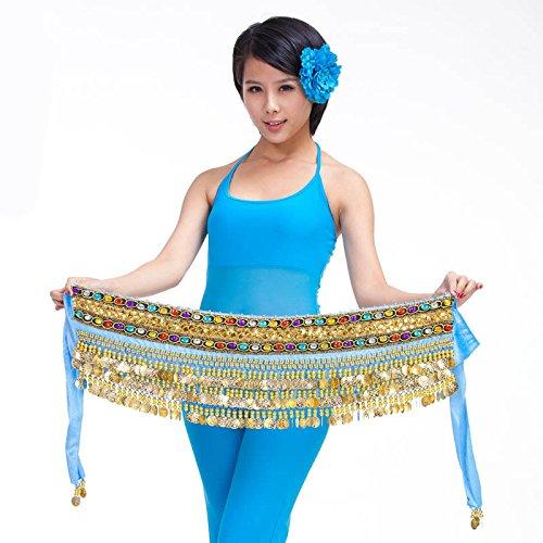 Danseuse nbsp;rangées Dance 8 Ceinture Pour 3 Belly Jupe Pièces Style Hip Écharpe Wrap p8dHfqx