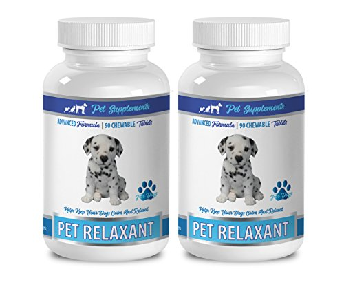 PET SUPPLEMENTS puppy calming vitamins - PET RELAXANT - ADVANCED FORMULA - FOR DOGS - CHEWABLE TABLETS - dog calming - 2 Bottle (180 Chews)
