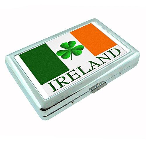 Ireland Irish Pride Shamrock S6 Metal Silver Cigarette Case Wallet Id Holder 4