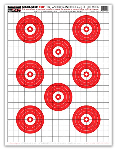 (Sight Seer Red - Paper Gun Range Shooting Targets 19x25 Inch (25 Pack))