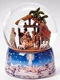Fontanini Musical LED Nativity Glitterdome Battery Operated New