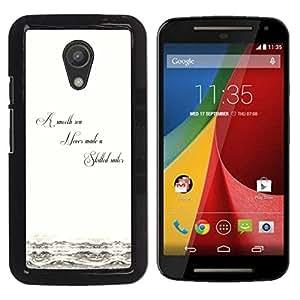 A-type Arte & diseño plástico duro Fundas Cover Cubre Hard Case Cover para Motorola G 2ND GEN II (Sea Smooth - Sabiduría Vida)