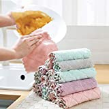 OTTATA 4PCS Washcloths Non Stick Oil Coral Velvet