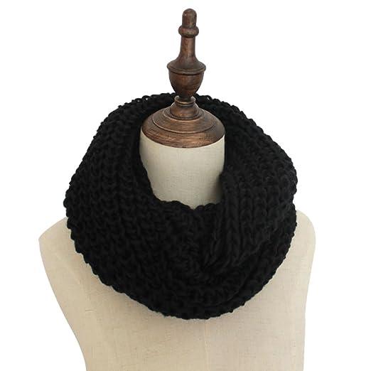 4dc4c7d7da6 Women Winter Knit Infinity Scarf Neck Warmer Circle Loop Scarves ...
