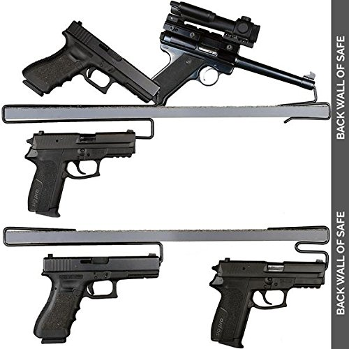 Gun Storage Solutions Handgun Hangers - Handguns Metal Display Stand (Variety Pack)