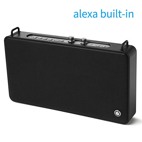 Alexa Built-in Portable Speaker GGMM Wifi Speaker Multiroom Speaker, Bluetooth Speaker with Treble and Bass Controls,20W Driver Wireless Speaker Supports Connection to Spotify Airplay DLNA iHeartRadio