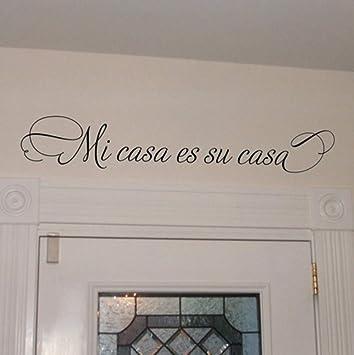 Zjxxm Mi Casa Es Su Casa Decinado De Vinilo España, Vinilos Decorativos Para El Hogar, Español, Tamaño 90X15Cm: Amazon.es: Bricolaje y herramientas