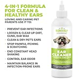 4-in-1 Dog Ear Cleaner – Vet Formulated Cleansing Solution + Aloe Vera for Removing Wax, Debris & Odor in Pets. Supports Infection Prone Ears & Reduces Head Shaking. Fresh Cucumber and Melon, 8 oz