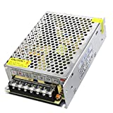 WELSUN 1Pcs Adaptador de Corriente 60W 5A LED Fuente de Alimentación conmutada CA 110V 220V a DC12V Transformador de Potencia para RGB Led Luz de Tira DC 12V (Grande)