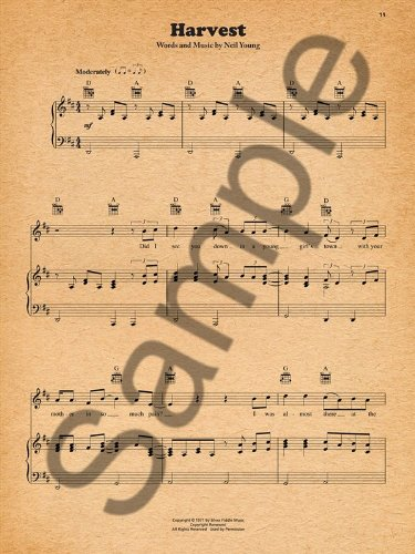 Neil Young Harvest Sheet Music For Piano Vocal Guitar Amazon