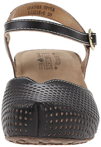 Lartiste Di Spring Step Womens Lizzie Flat Sandal Black