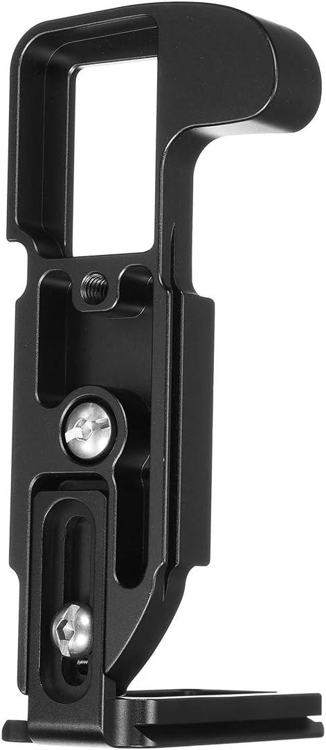 Camera Hand Grip,Camera Hand Grip Bracket Qinlorgo for Fuji X100F Mirrorless Camera,Vertical L-Bracket,Aluminum Alloy Detachable Tripod,Quick Release Plate,Base Hand Grip Quick Release Plate L Bracke