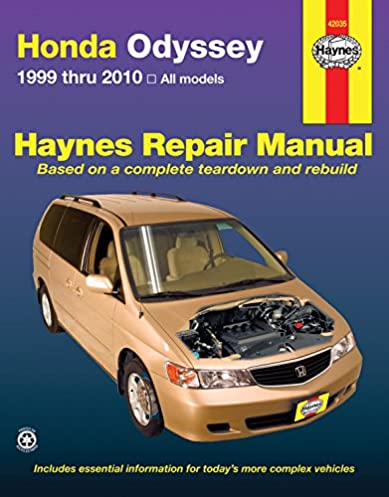 honda odyssey 1999 2010 repair manual haynes repair manual haynes rh amazon com Haynes Automotive Service Manuals Chilton GM Service Manuals