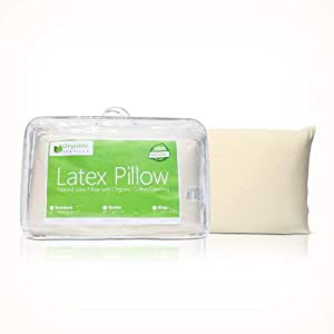 All Natural Latex Pillow with Organic Cotton
