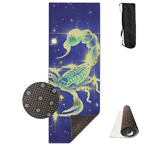 GONGYPND Purple Star Scorpio Yoga Mat, Premium Yoga Mat, Non-Slip Backing - Lightweight And Durable -Yoga Mat For Exercise, Yoga, And Pilates 72x24 Inch