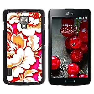 Caucho caso de Shell duro de la cubierta de accesorios de protección BY RAYDREAMMM - LG Optimus L7 II P710 / L7X P714 - Wallpaper Begonia Art Flower Bloom