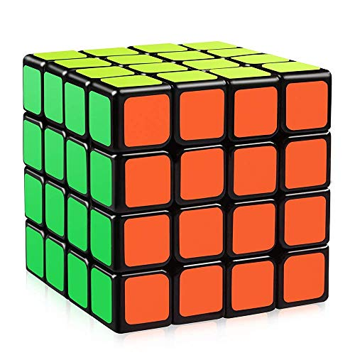 Speed Cubes MoYu4x4 3D Cube Smooth,Magic Cube 3D Puzzle Speed Cube,Toys for Kids Adults Black ()
