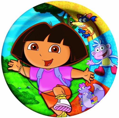 """Dora the Explorer 9"""" Dinner Plates - 8 ct"""