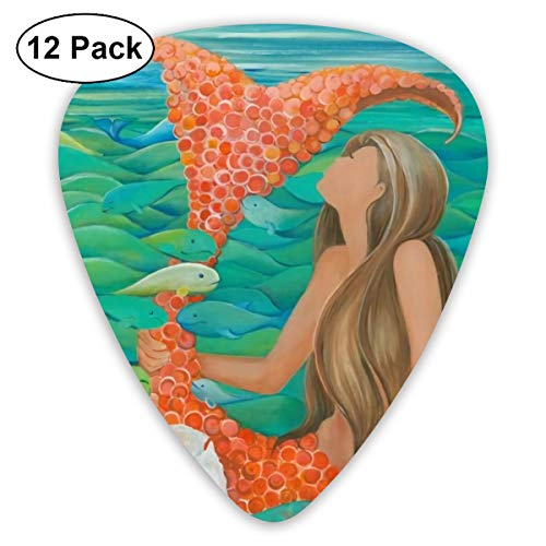 Red Mermaid Art Painting Unique Classic Guitar Picks for sale  Delivered anywhere in Canada