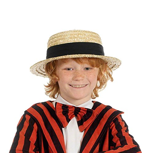 Straw Boater Hat - Kids Accessory
