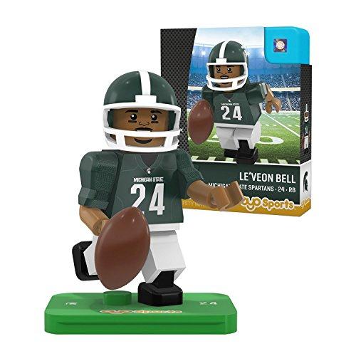 Michigan State Spartans Player (NCAA Michigan State Spartans Le'Veon Bell Gen 2 Player Mini Figure, Small, Black)
