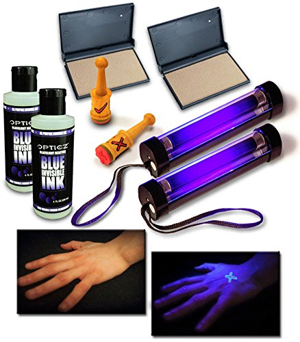 Reactive Invisible Blue Ink Hand Stamping Document Marking Security Kit (Economy Kit) (Intense Dry Skin Range)