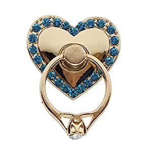 HuaYang Bracket Buckle Mobile Phone Holder Rotated Universal Heart Shape Finger Stand-- Blue