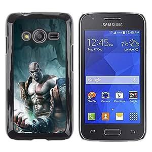Caucho caso de Shell duro de la cubierta de accesorios de protección BY RAYDREAMMM - Samsung Galaxy Ace 4 G313 SM-G313F - God War Warrior