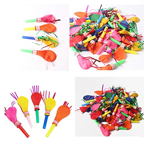 Balloon Clown - 50pcs Birthday Party Balloons With Whistle Toys Will Be Called Balloon Clown Props Globos Balony - Balloon Clown Ballons Accessories Champagne Party Mickey Mouse Background Ball]()