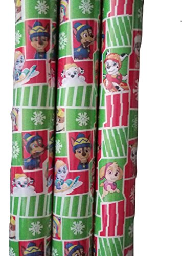 20's Homemade Costume (Paw Patrol Green & Red Theme Gift Wrapping Paper 20 sq ft. (1 Roll))
