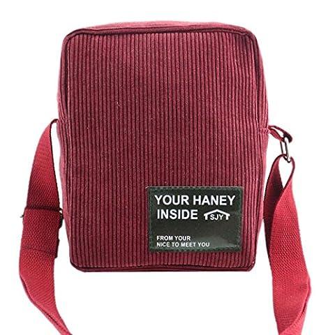 DEESEE(TM) Women Handbag Corduroy Shoulder Bag Large Tote Ladies Purse (Red) - Corduroy Womens Shoulder Bag