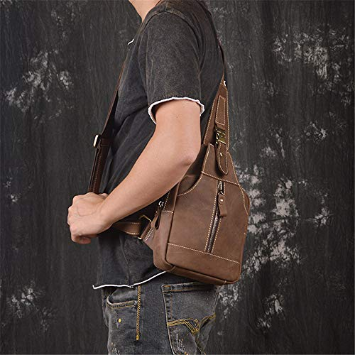 Women Sling Sports Crossbody Backpack Brown Shoulder Chest Men's Outdoor Ybriefbag Bag for Large Casual Bag Leather Capacity Coffee Color Messenger Men Bag Backpack w4qO05xU