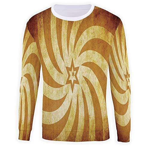MOOCOM Men's Crewneck Burnt Orange Sweatshirt