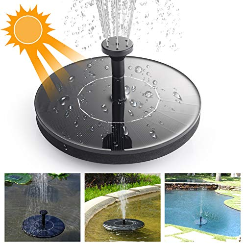 - Mixhomic Solar Fountain Pump 1.4W Monocrystalline Silicon Solar Panel for Garden Pond Sprinklers and Fountain Aquarium Small Pond Bird Feeder for Bird Bath