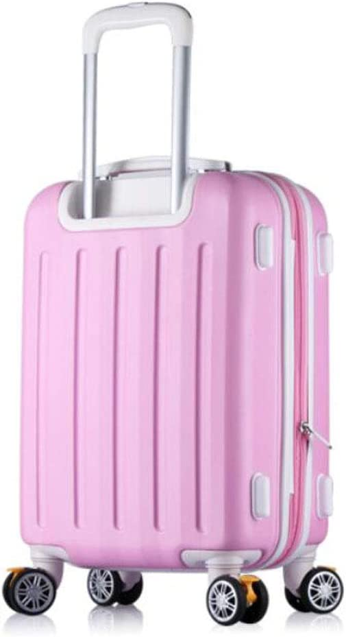 35 23 50 Black Size Color : Pink, Size : 161022 inch Aishanghuayi Suitcase for Large Capacity Rotating Wheel Light Hard Shell Suitcase cm