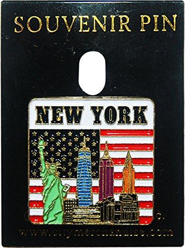 (New York City Skyline Lapel Pin with)