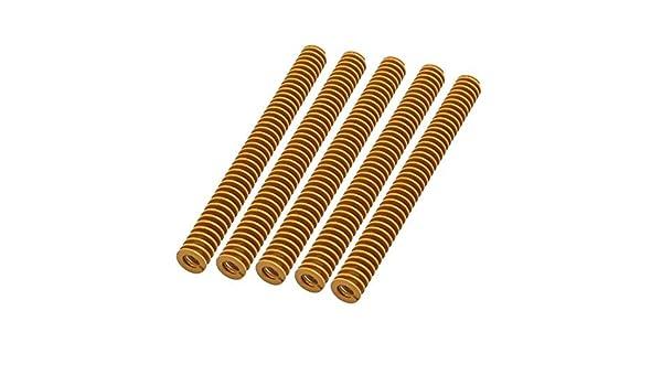 DealMux 5pcs 4x8x80mm liga de aço extra Luz Carga Imprensa compressão helicoidais Mold Die Primavera Amarelo: Amazon.com: Industrial & Scientific