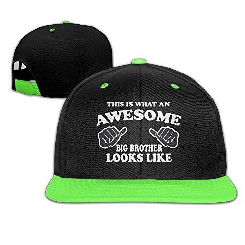 [Kids Big Brother Falt Hat Snapback Baseball Cap KellyGreen] (Crazy Hat Day Ideas For Kids)