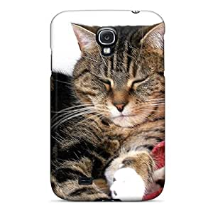 New Ajephke Super Strong Grumpy Tabby Cat Tpu Case Cover For Galaxy S4