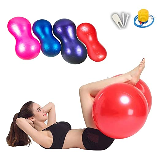 XGYUII Bola de maní Yoga Bola 90 * 45 cm PVC Pelota de Ejercicio ...