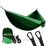 Bear Butt #1 Double Hammock, A Start Up Company Gear at Half The Cost of The Other Guys, Dark Green/Light Green