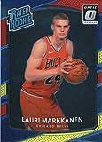#10: 2017-18 Donruss Optic Wal-Mart Red Yellow #159 Lauri Markkanen Chicago Bulls Rated Rookie Basketball Card