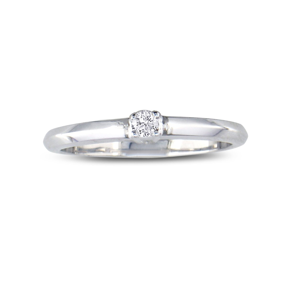 Sparkle Bargains Sterling Silver Diamond Promise Ring (0.06ct)