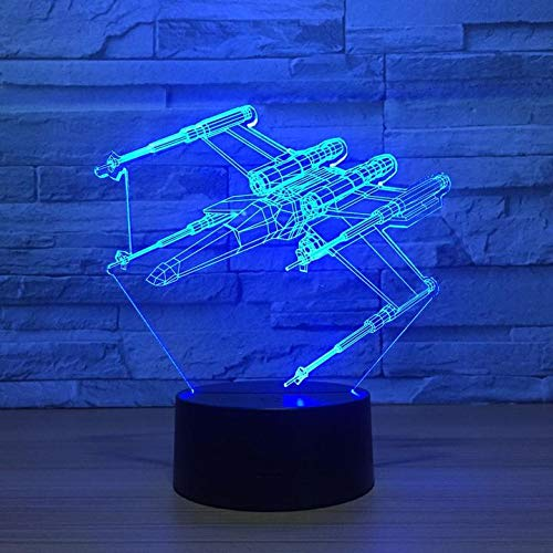 - 3D Night Light Star Wars X-Wing Star Fighter Space Ship Lamp Room Decoration