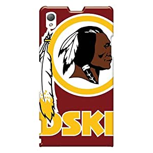 Protective Cell-phone Hard Cover For Sony Xperia Z1 (MCM15021Jvfn) Allow Personal Design Realistic Washington Redskins Pattern