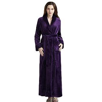 MERRYHE Comforts Womens Mens Unisex Plus Size Lujoso Franela Albornoz Suave Bata Gym Ducha Hotel SPA